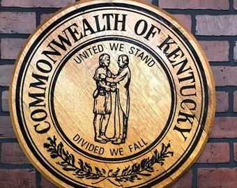 Commonwealth of Kentucky Bourbon Barrel Head Lid