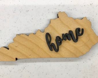 "Kentucky Wood Sign - Engraving Option - 22.75"" x 10 1/4"""