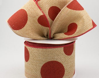 Tan & Red Bow - Custom Made with this Ribbon