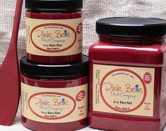 Dixie Belle Barn Red Chalk Mineral Paint DIY Paint, Furniture Paint, Cabinet Paint, Craft Paint, Paint Parties, Stencil Paint