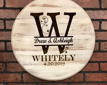 Bourbon Head | White Shabby Chic | Wedding Reception Anniversary Alternative Guest Register Housewarming Farmhouse Decor
