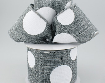 Gray & White Bow - Custom Made with this Ribbon