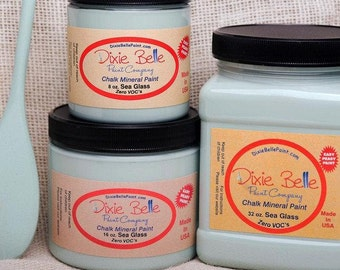Dixie Belle Sea Glass Chalk Mineral Paint DIY Paint, Furniture Paint, Cabinet Paint, Craft Paint, Paint Parties, Stencil Paint