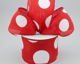 Red & White Bow - Custom Made with this Ribbon