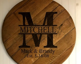 Custom Bourbon Head for Wedding Reception Anniversary Alternative Guest Register Housewarming