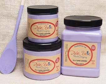 Dixie Belle Lucky Lavender Lilac Purple Chalk Mineral Paint DIY Furniture Paint, Cabinet Paint, Craft Paint, Paint Parties, Stencil Paint
