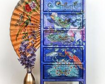 Furniture Decal - PEACOCK DREAMS Transfer by ReDesign with Prima