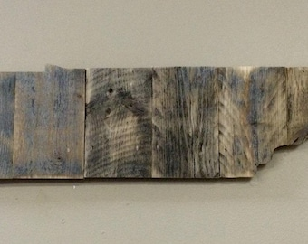 """Tennessee Wood Large State Shape Cutout - Rustic Wood  23"""" x 5 1/2"""" Laser Engraving Options- Wedding, Home Decor,  Birthday, Anniversary"""