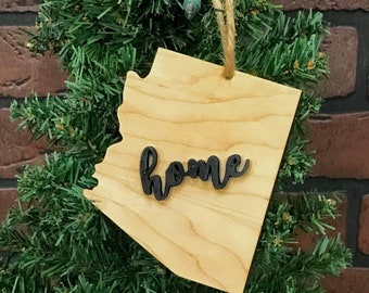 Arizona State Shape Ornament Keepsake Decoration Holiday Handmade Gift Home Ornie Party Favor