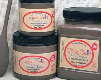 Dixie Belle Chocolate Brown Chalk Mineral Paint DIY Paint, Furniture Paint, Cabinet Paint, Craft Paint, Paint Parties, Stencil Paint