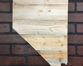 """Nevada Wood Sign 13 1/4"""" x 20""""  with Customized Engraving Option"""
