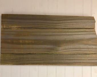 "North Dakota Wood Sign Hanger 20"" x 10""  Laser Engraving Options- Wedding, Home Decor, Birthday, Anniversary"