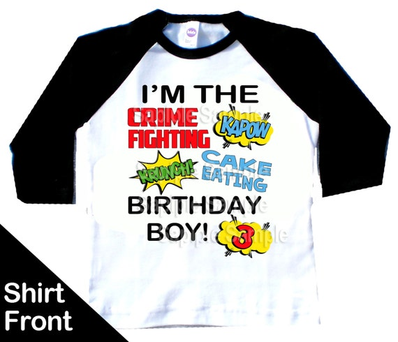 Superhero Birthday Shirt Comic Party