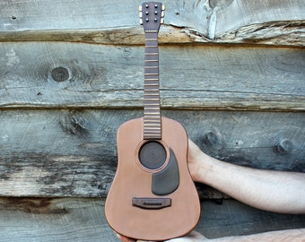 Acoustic Guitar Cremation Urn for Musician- Artistic Wall Sculpture- Unique, Personalized Decorative Funeral Urns for Human Ashes