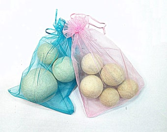 Wool Dryer Balls from happy sheeps set of 3 or 5 balls