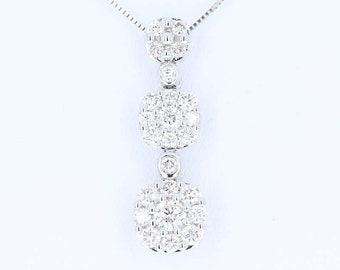 3f3d68b3d79be Diamond journey necklace | Etsy