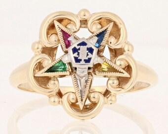 Masonic star ring   Etsy