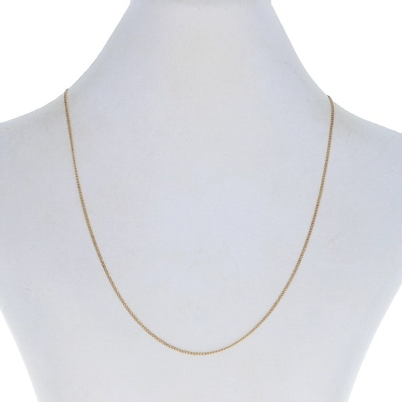 """Yellow Gold Curb Chain Necklace 16"""" - 14k Lobster"""
