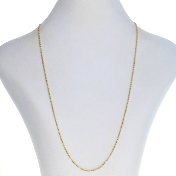 """Yellow Gold Rope Chain Necklace 20"""" - 14k Lobster"""