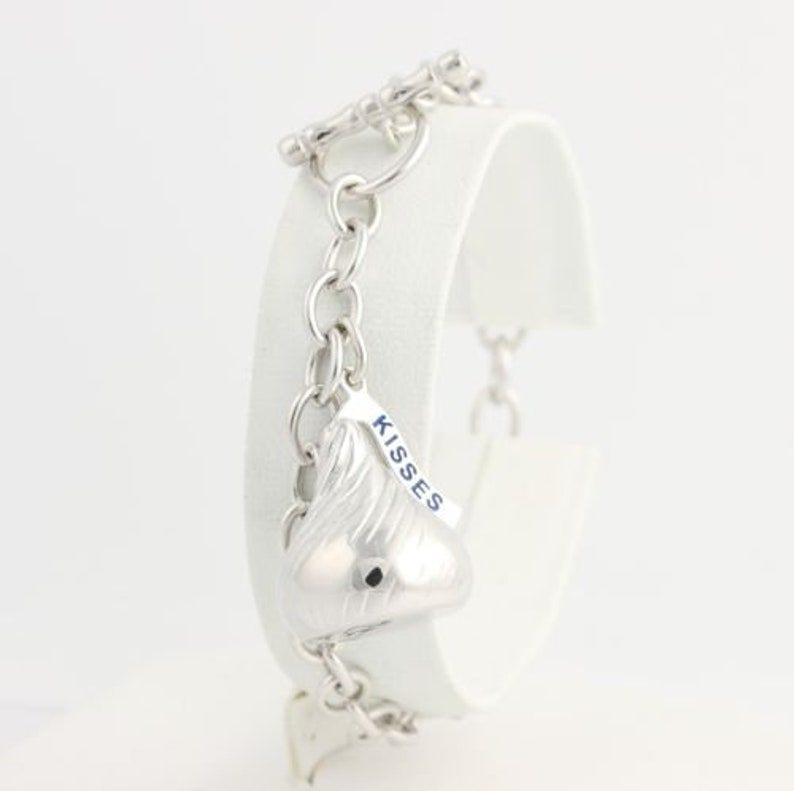 7609efb85fc76 Hershey Kiss Rolo Chain Bracelet - 925 Sterling Silver Toggle Clasp Women's  MQ162