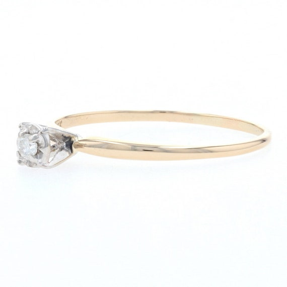Yellow Gold Diamond Solitaire Engagement Ring - 1… - image 3