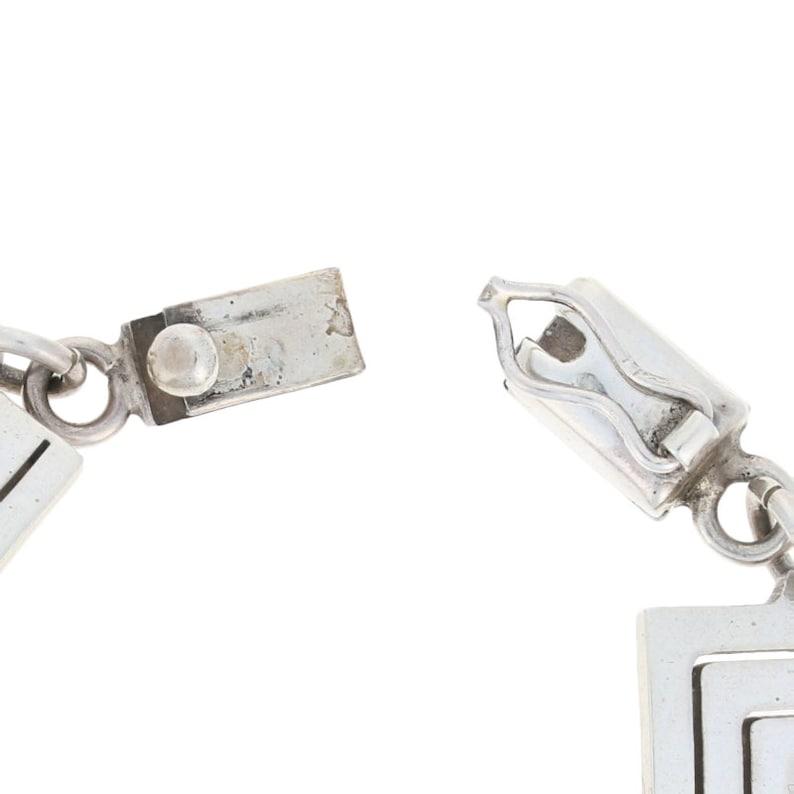 Square Swirl Bracelet 7 Sterling Silver Women/'s