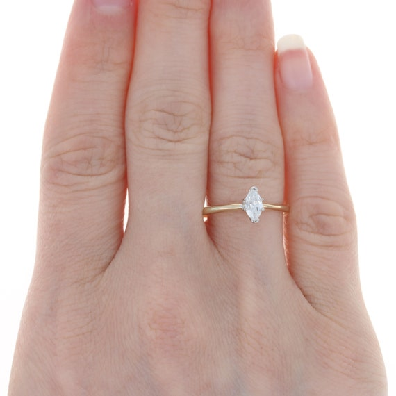 Yellow Gold Diamond Solitaire Engagement Ring - 1… - image 2