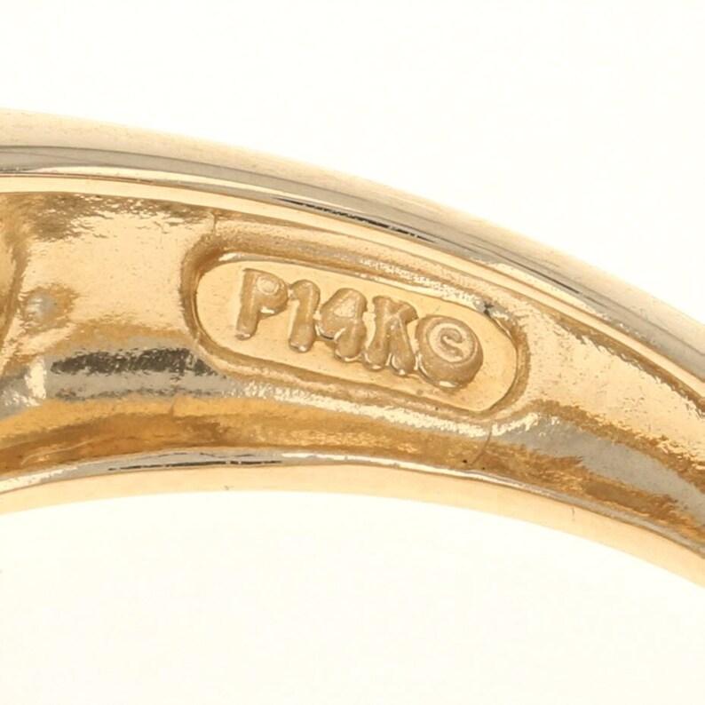 14k Round Cut 1.00ctw CZ Ring Yellow Gold Diamonique Cubic Zirconia Band