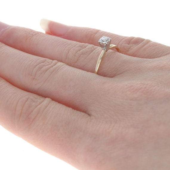Yellow Gold Diamond Solitaire Engagement Ring - 1… - image 4