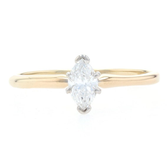Yellow Gold Diamond Solitaire Engagement Ring - 1… - image 1