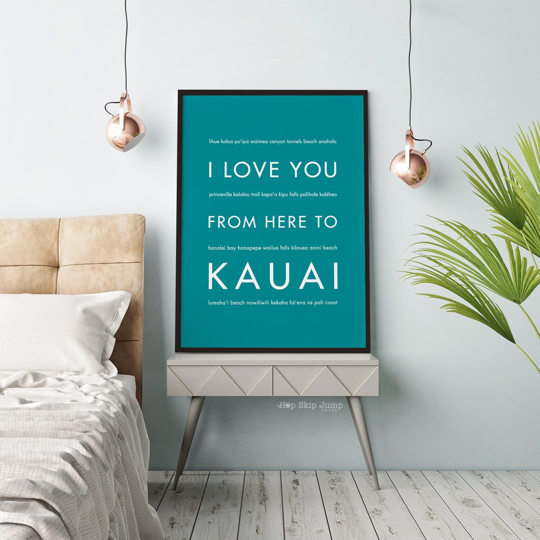Wedding Gifts From Hawaii: Kauai Art Hawaii Gift Hawaii Home Decor Teal Wedding Decor