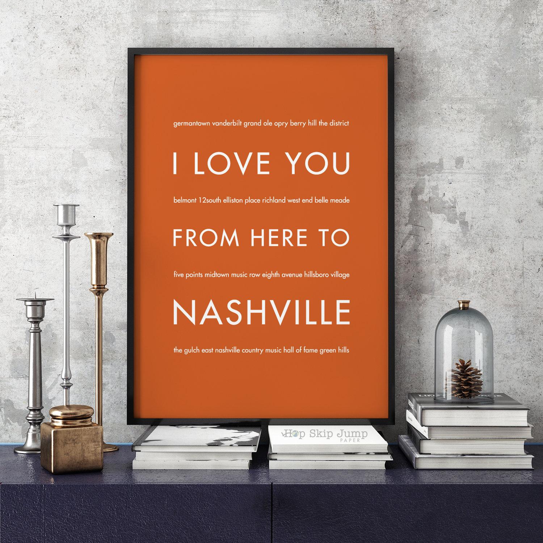 Nashville Print Nashville Art Tennessee Poster Nashville