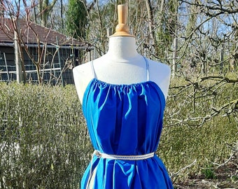 Long Shae in Cotton – Royal Blue - Handwoven straps