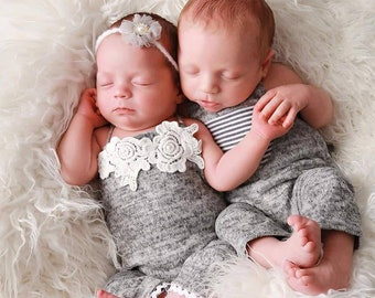 Twin Outfits Boy Girl Etsy