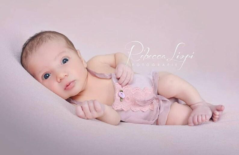 d7781eab369 Newborn Photography Prop-Newborn Girl s Dusty Pink Short