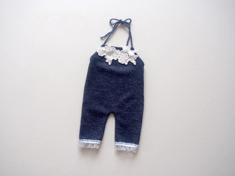78866afa4c4 NEW-Newborn Photography Prop-Newborn Girl Blue Romper with