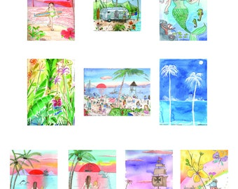 Chrisanne's Tropical Collection, Box of 10 Cards w/Envelopes