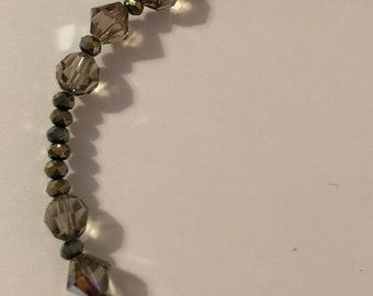 Taupe Swarovski Crystal Bracelet