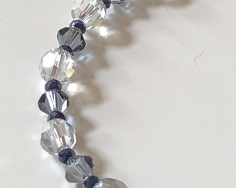 Dusty Blue Swarovski Crystal Bracelet