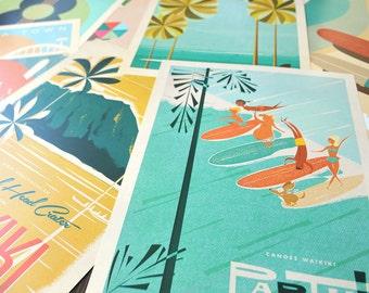 THE PICK 3 - Choose THREE 12x18 Retro Hawaii Travel Prints