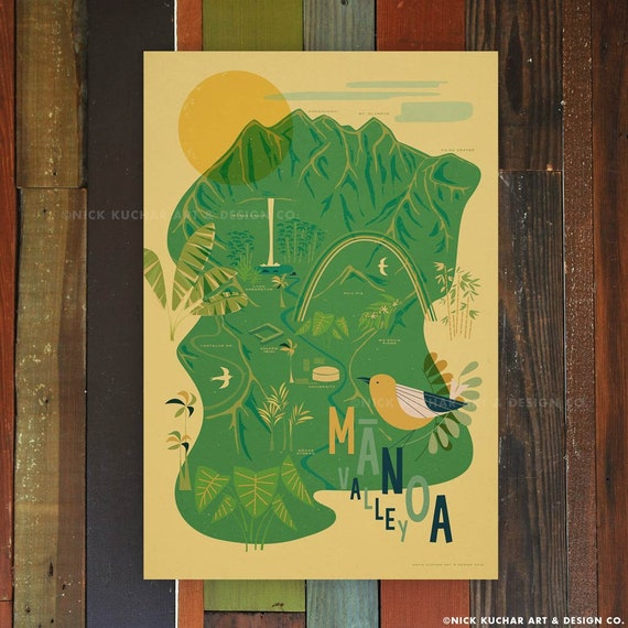 Choose THREE 12x18 Retro Hawaii Travel Prints THE PICK 3