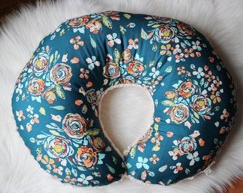 Nursing Pillow Cover / Nursing Pillow Cover Girl, Floral Nursing Pillow, Floral Crib Bedding, Floral Nursery, Nursing Pillow Slipcover