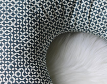 Nursing Pillow Cover / Blue Basketweave / Nursing Pillow Cover Boy, Nursing Pillow Blue, Nursing Pillow Cover Boho, Nursing Pillow Slipcover