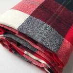 Red Plaid Changing Pad Cover or Crib Sheet - Woodland Baby Bedding - Fitted Crib Sheet, Crib Sheet Boy, Plaid Crib Bedding, Buffalo Plaid