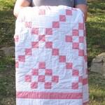 Irish Chain Quilt / Modern Quilt / Baby Quilt, Crib Quilt, Throw Quilt, Twin Quilt, Queen Quilt, Baby Blanket, Minimalist Quilt