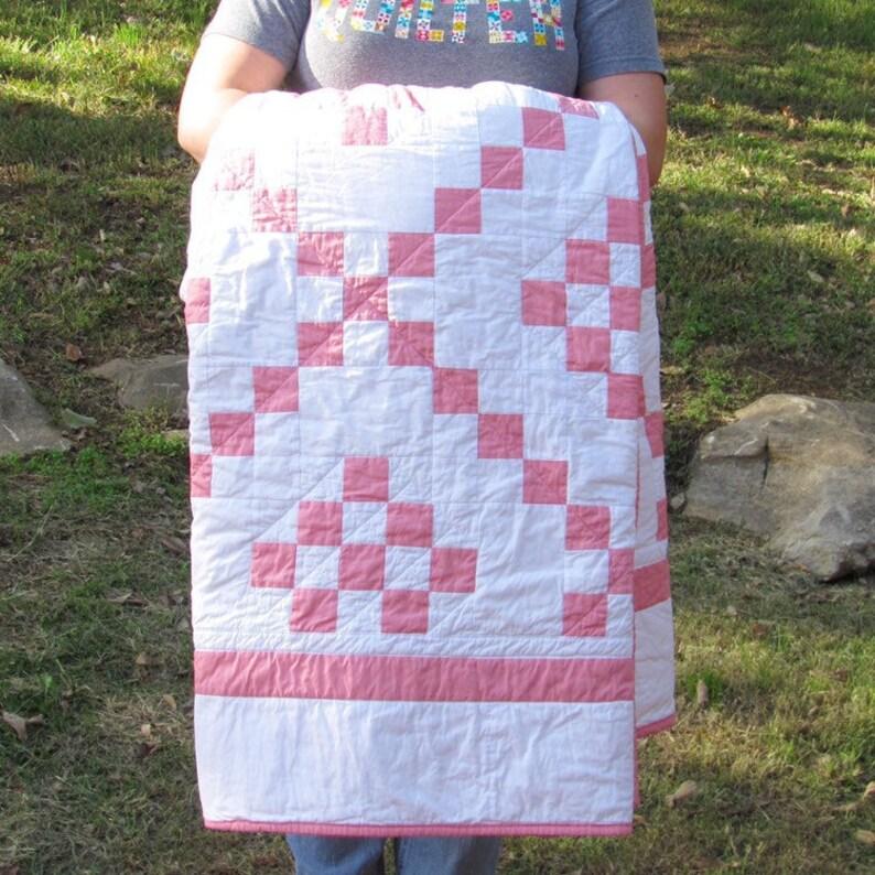 Irish Chain Quilt / Modern Quilt / Baby Quilt Crib Quilt image 0
