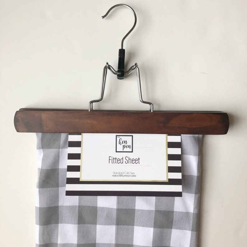 Gray Plaid Crib Sheet Fitted Sheet for Cribs Buffalo Plaid image 0
