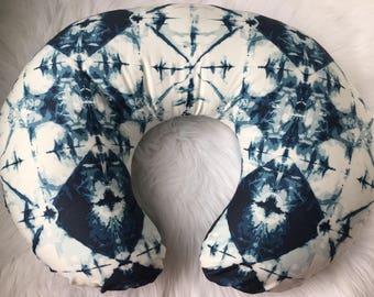 Shibori Baby Pillow Cover | INDIGO | Boho Baby Room Nursing Pillow Cover