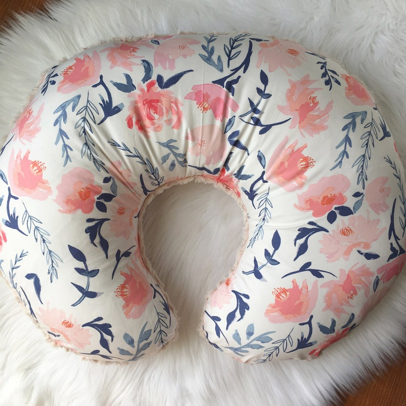 Watercolor Floral Nursing Pillow Cover / Nursing Pillow Cover image 0