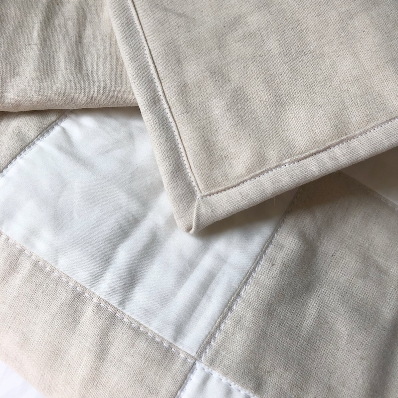 Neutral Baby Blanket  LINEN CREAM  Neutral Nursery Crib image 0